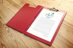 Notes Paper Printable-Half Sheet,Note pad paper,Bicycle Note Paper,Notes Printable | Printable Notepad