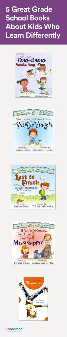 These five books can show kids with learning and attention issues that they're not alone!