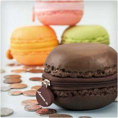 scented macaron coin purses