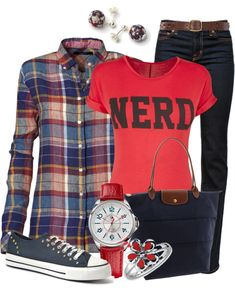 """""""NERD"""" by my-pretend-closet ❤ liked on Polyvore"""