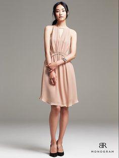 BR Monogram Chiffon Halter Dress Product Image