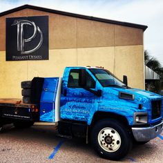 Swimming Pool-themed wrap for a Alaglas Pools company truck. Chevy 8500 wrap for Alaglas Pools by PD.