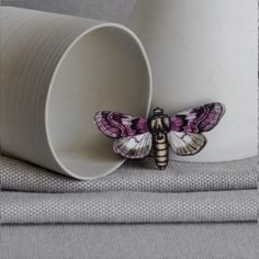 The Mauve Purple Admiral Butterfly Brooch  for €12.95 from JamArtShop.com is a beautifully handmade butterfly brooch which has been carefully cut from wood with a touch of pink and brown on her wings. It will make the perfect fashion accessory this summer. #artysmartyshop #fashion #naturelover #jewelery #handmade #butterfly