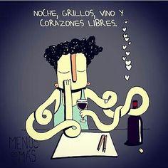 Corazones libres... Por @menosesmas16  #pelaeldiente #feliz #comic #caricatura #viñeta #graphicdesign #fun #art #ilustracion #dibujo #humor #amor #creatividad #drawing #diseño #doodle #cartoon #vino
