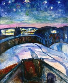 Edvard Munch was a Norwegian Symbolist painter, printmaker and an important forerunner of expressionistic art. Description from paintingmania.com. I searched for this on bing.com/images
