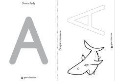 учим алфавит с ребенком, шаблоны для лепки и рисования пальчиком