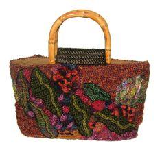https://flic.kr/p/fAwrS6   Freeform Crochet Handbag in Autumn Tones - 1   Freeform Crochet Handbag in Autumn Tones  Gum leaf motifs, bullion Gum Nuts & Vilene patches were welded together to create these glowing Autumn tones.