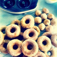 {Recipe and review} Baked vegan cinnamon donuts + Sunbeam donut iron test | Wholesome Cook
