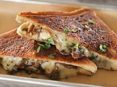 Get Papi Queso Food Truck's Mushroom Gruyere Grilled Cheese Recipe from Food Network