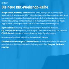 20.10.2015 Die neue RKC-Workshop-Reihe - www.robert-krause.com