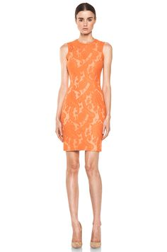 Yigal Azrouel | Paisley Lace Dress in Nectar