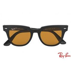 b81f115be Ray Bans RB2168 Wayfarer Meteor Classic with Black frame and Yellow Classic  lenses Clubmaster Sunglasses,