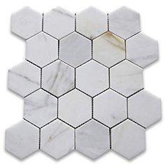 Calacatta Dore Italien Calcutta Marbre Hexagonale Mosaique Marbre Mosaique Et Italien