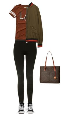 """""""Sans titre #7088"""" by youngx ❤ liked on Polyvore featuring Topshop, Hollister Co., Converse and MICHAEL Michael Kors"""