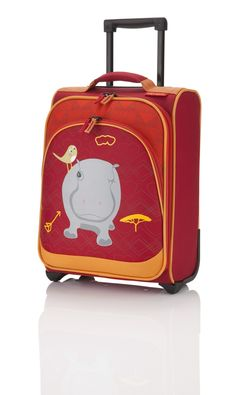 Travelite Youngster Kinder Trolley 2W Nilpferd - Rot
