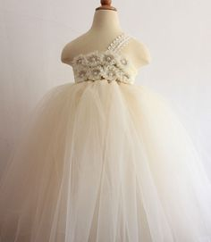 Flower girl tutu dress. So adorable in person!