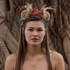 Disney Ears Pocahontas Ears Wire Ears Minnie by HappilyEarverAfter Diy Disney Ears, Disney Minnie Mouse Ears, Disney Diy, Disney Nerd, Disney Ideas, Disney Crafts, Disney Headbands, Ear Headbands, Disney World Trip