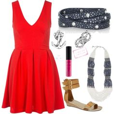"""""""Jewels that can be worn with any red attire on the fourth of July!"""" by cilooks on Polyvore"""