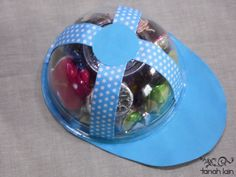 Candy Cap - step by step Photo tutorial Bildanleitung Creative Crafts, Diy And Crafts, Crafts For Kids, Diy Birthday Gifts For Dad, Baby Shawer, Fathers Day Crafts, Ideas Para Fiestas, Holidays And Events, Baby Boy Shower