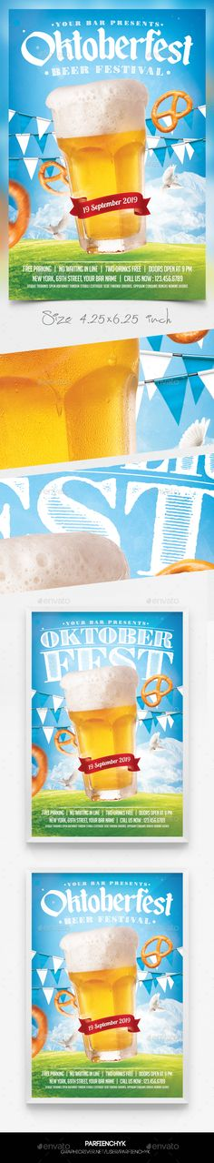 Oktoberfest Beer Flyer Template PSD. Download here: https://graphicriver.net/item/oktoberfest-beer-flyer-template/17507331?ref=ksioks