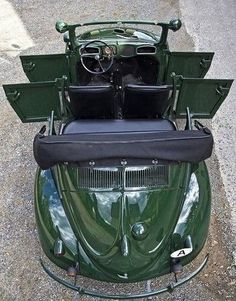 Very Rare Volkswagen Beetle 4 door convertable cabrio. Volkswagen Jetta, Vw Bus, Wolkswagen Van, Combi Wv, Vw Beetle Convertible, Kdf Wagen, Vw Vintage, Vintage Photos, Ferdinand Porsche