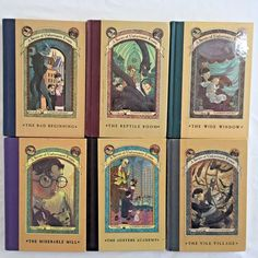 Series of Unfortunate Events Lot 6 Books 1-5 7 Lemony Snicket Hardcover Series