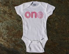 Baby Girl ONESIE® Shirt First Birthday one