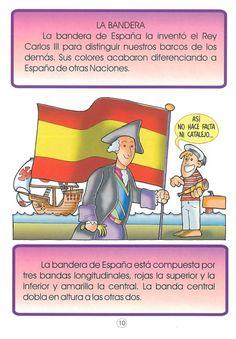 La bandera de España - Flag of Spain Spanish Phrases, Spanish Lessons, How To Speak Spanish, Spanish Classroom, Teaching Spanish, Spain History, Spain Culture, Hispanic Culture, Spanish Speaking Countries