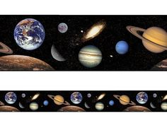 Outer Space Wall Border - http://www.theboysdepot.com/outer-space-5-self-adhesive-wall-border-in-a-clamshell.html