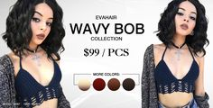 Synthetic Lace Front Wigs   Human Hair Clip In Hair Extensions - So many colors and lengths available. - EvaHair