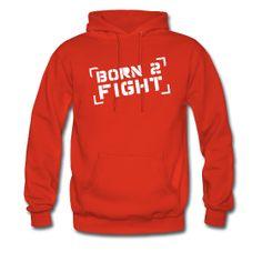 Heren Hoodie Born 2 Fight