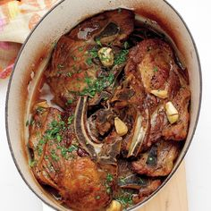 Vinegar-Braised Pork Shoulder Chops Recipe | Martha Stewart