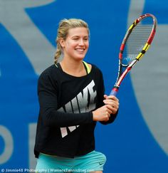 .@geniebouchard seems to enjoy the @NuernbergerCup a lot - Look at that smile!