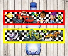 Blaze and the Monster Machines water labels instant download