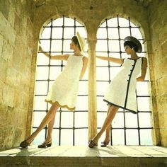 Lanvin e Chanel dresses. 1970.    Had one just like the one on the right! Not Channel however.
