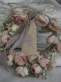 Dried Roses Wreath...Ana Rosa