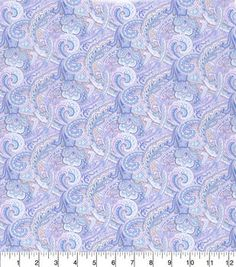 Made in America Cotton Fabric-Shabby Chic Paisley Purple