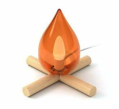 Fire Kit Lamp - This cute Fire Kit Lamp adds a little humor to your decor. The ironic piece is a fire-free lamp that resembles a campfire, like the ones you used t. Ideias Diy, Deco Design, Lamp Design, Design Room, Chair Design, Design Design, Woodland Nursery, Rustic Nursery, Woodland Theme