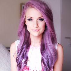 BEAUTIFUL!!!  This purple/ lavender hair is sooo gorgeous!I I feel like this is an artic fox or wella dye!