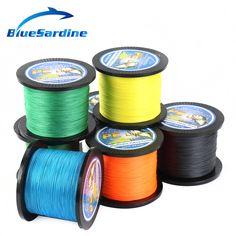 BlueSardine 500 메터 꼰 낚시 라인 멀티 필라멘트 PE 꼰 와이어 낚시 태클 12파운드-90LB