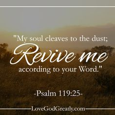 {Week 2 - Friday Post} Revive means making alive, keeping alive, and giving more life. Let this summer be a time of reviving our hearts. #Psalm119 LoveGodGreatly.com