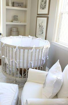 Neutral Nursery, Round Crib