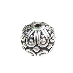 TierraCast Pewter Bead, Casbah Round, Silver
