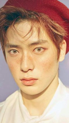 Jaehyun with freckles and light eyes is probably my most favourite concept:'))) Taeyong, Rapper, Valentines For Boys, Jung Jaehyun, Jaehyun Nct, Freckles, K Idols, Monsta X, Nct Dream