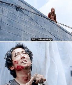 Enid and Glenn. The Walking Dead Season 6 Episode 7