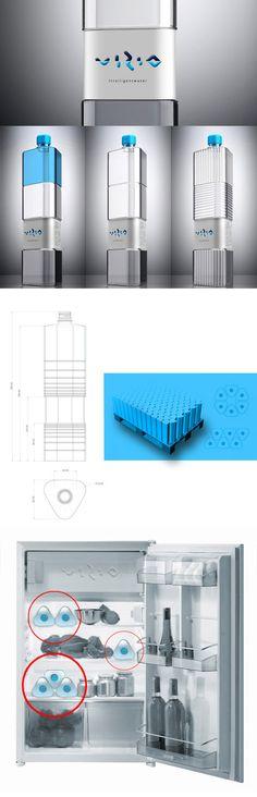 vizio water bottle/design packaging