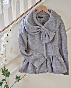 Women's Shabby Chic Big Bow Coat<br>Now In Stock