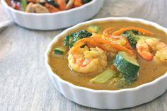 Thai Yellow Curry w/ Prawns -- against all grain
