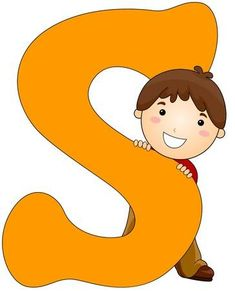 Illustration of a Little Boy Hiding Behind a Letter S Cute Alphabet, Alphabet Images, Alphabet For Kids, Tree Outline, Abc For Kids, Diy Bouquet, Kids Wall Decals, Cartoon Pics, Happy Kids