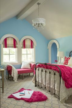 Isn't Pink always in style for tweens and teens? - transitional - kids bedroom - minneapolis - Martha O'Hara Interiors